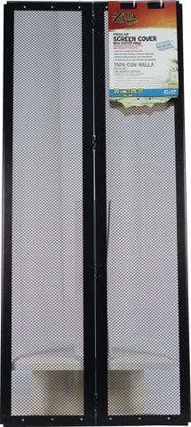 Zilla Reptile-Enclosures BLACK / 30X12 INCH Zilla - Fresh Air Screen Cover With Center Hinge
