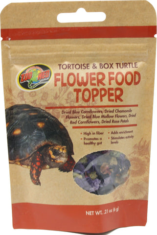 Zoo Med Laboratories Inc Reptile-Food .21 OUNCE Zoo Med Laboratories Inc - Tortoise & Box Turtle Flower Food Topper