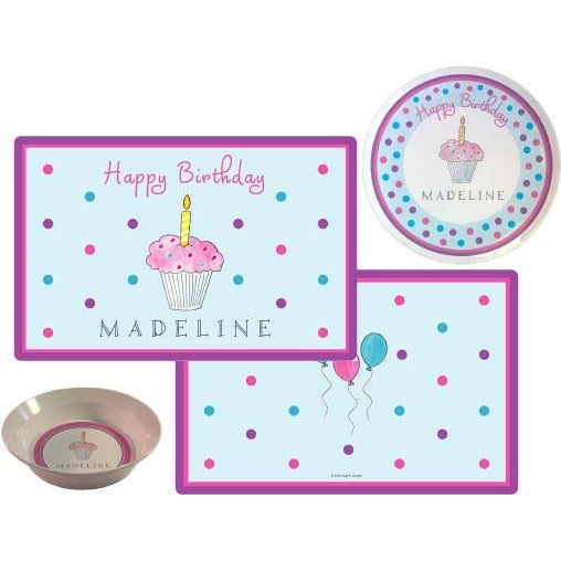 Birthday Cupcake Kids' Dish Set - inthisveryroom