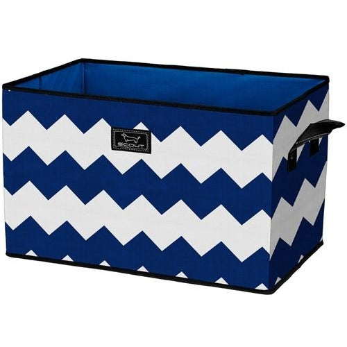 *SOLD OUT* Junque Trunk - Blue Chevron Stripes - inthisveryroom