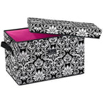 *SOLD OUT* Rump Roost - Large Bin with Lid - Damask - inthisveryroom