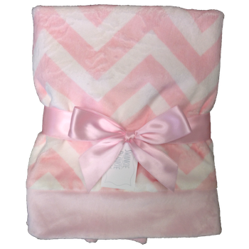 Pink Chevron Receiving Blanket by Swankie Blanket