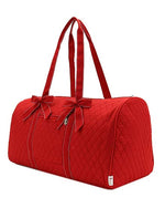 Red & White Quilted Duffel