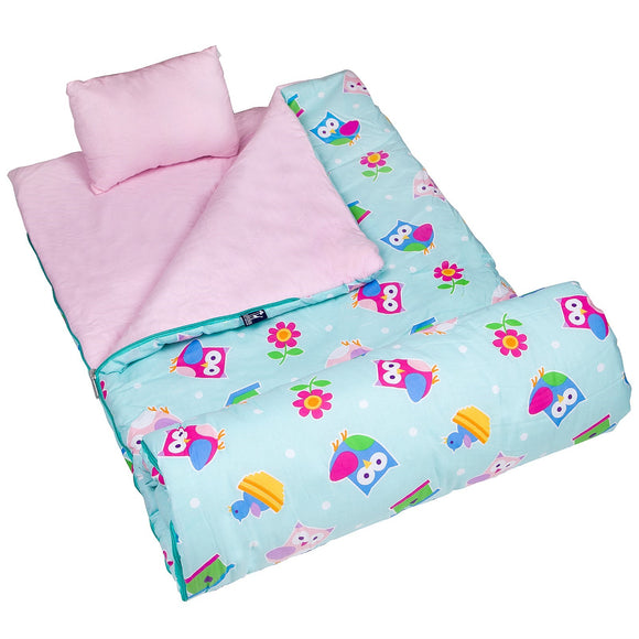 Monogrammed Owls Sleeping Bag for Girls