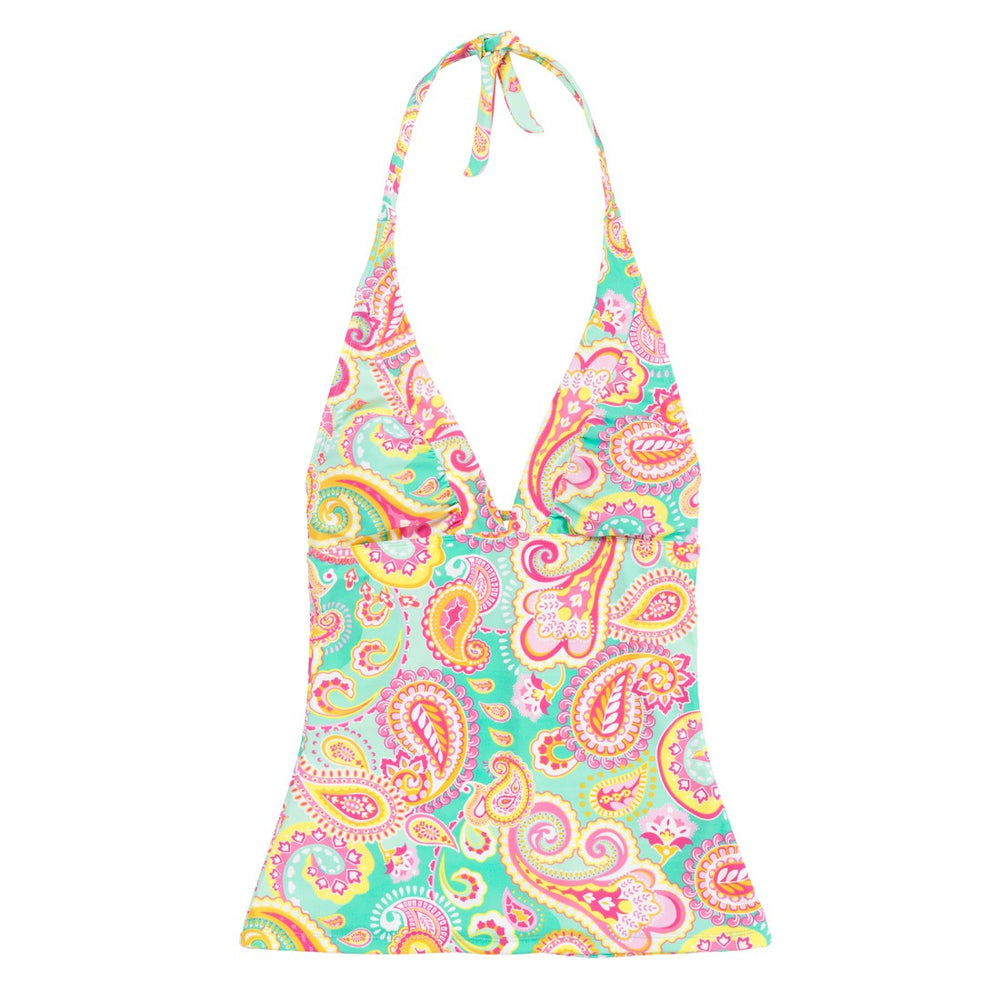 Personalized Paisley Tankini Bathing Suit Top