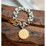 John Wind Mixed Metals Initial Bracelet