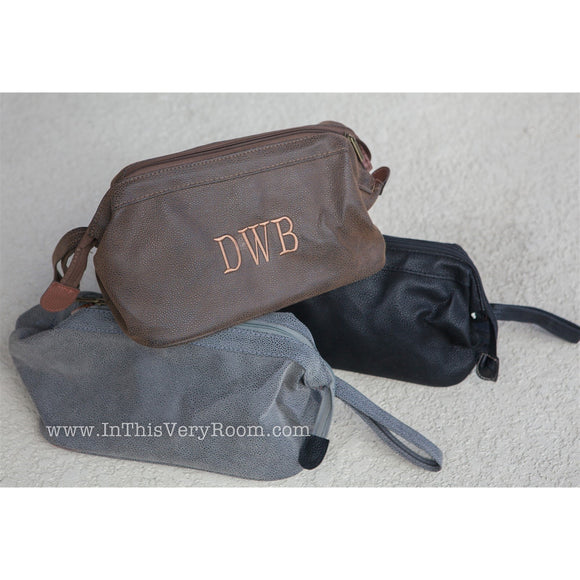 Monogrammed Dopp Bags for Men