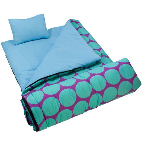 Big Aqua Dots Sleeping Bag