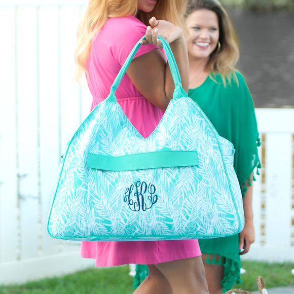 Poolside Palm Beach Aqua Duffel Bag