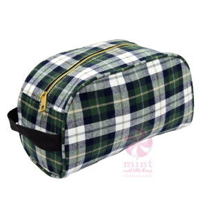 Plaid Dopp Style Travel Bag