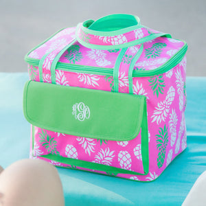 Pineapple Cooler Bag - Insulated Pineapple Pattern Cooler Tote