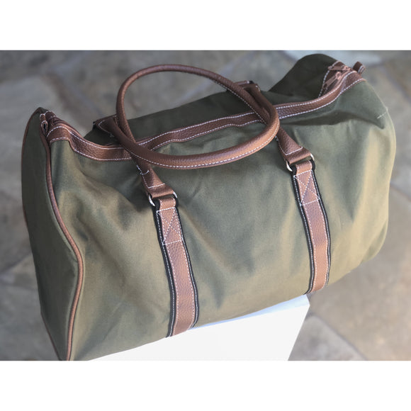Monogrammed Olive Green Duffel Bag for Boys & men