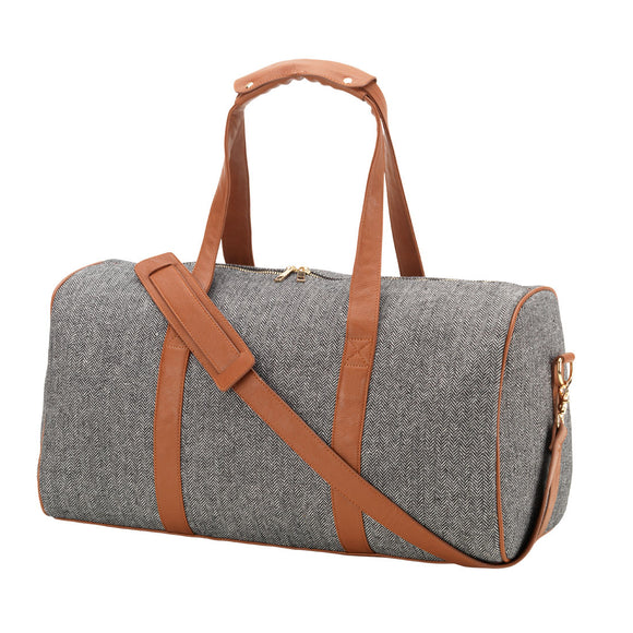 Personalized Herringbone Duffel