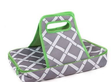 *SOLD OUT*Bamboo Grey & Green Casserole Carrier - inthisveryroom