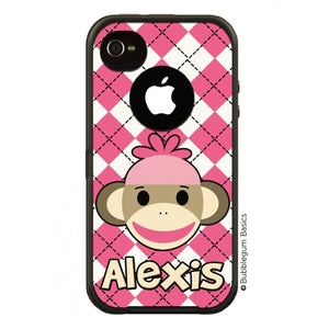 Sock Monkey Girl Otterbox Case