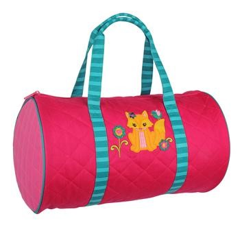 Monogrammed Fox Duffel Bag for Girls