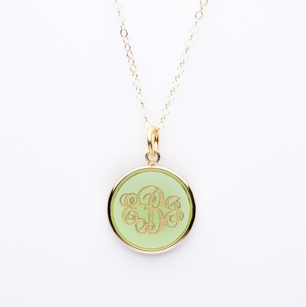 Moon and Lola Round Initials Necklace