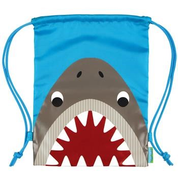 Monogrammed Shark Backsack - Drawstring - for Kids