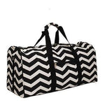 Black Chevron Duffle Bag
