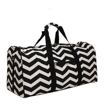 Black Chevron Duffle Bag - inthisveryroom