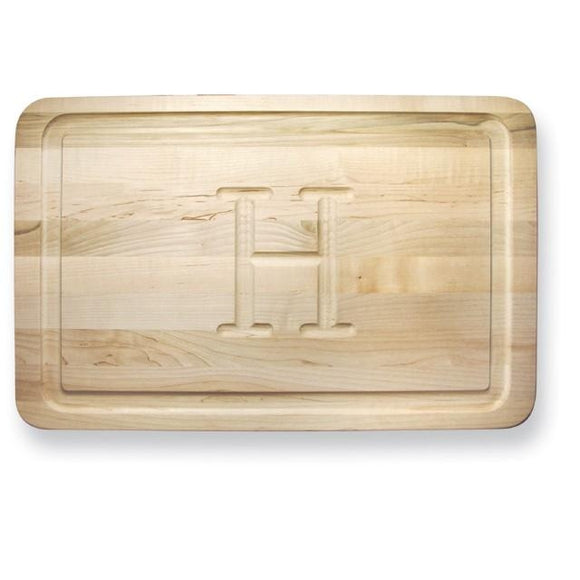 Monogrammed Cutting Board - Rectangle, Light Wood