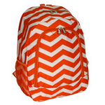 Orange & White Chevron School Backpack