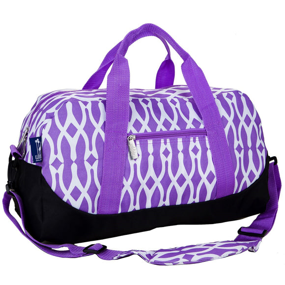 Purple Monogrammed Sleepover Duffel for Girls