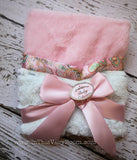 Plush Little Lovie Blanket - Pink Paisley