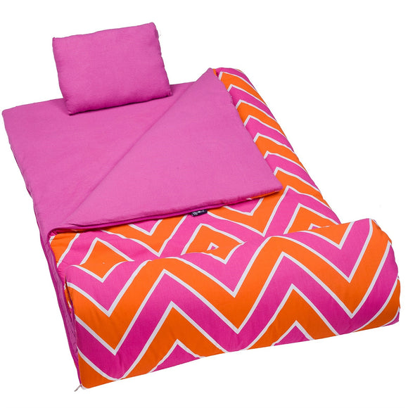 Chevron Pink Sleeping Bag - inthisveryroom