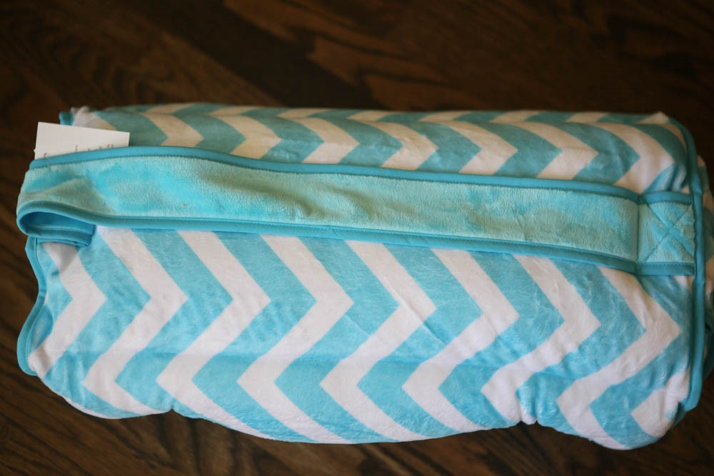 *SOLD OUT* Plush Turquoise Chevron Nap Mat - inthisveryroom
