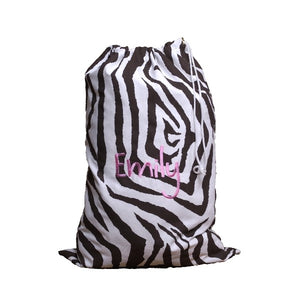 *SOLD OUT* Chocolate Zebra Laundry Bag - inthisveryroom