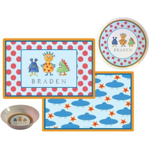 Monster Madness Kids' Dish Set