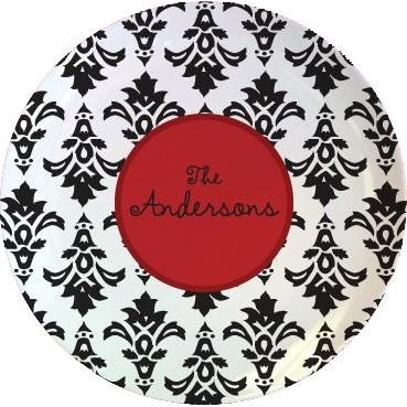 Personalized Damask Plates