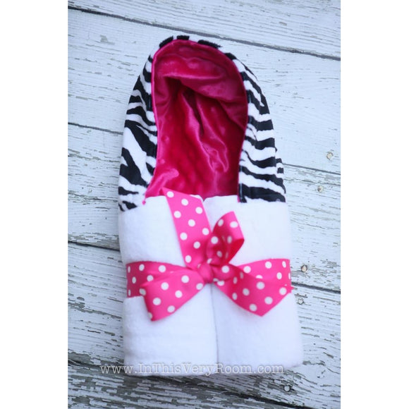 Personalized Zebra Hooded Towel