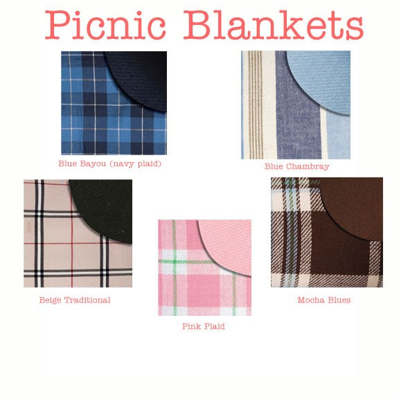 Monogrammed Picnic Mat - More Colors