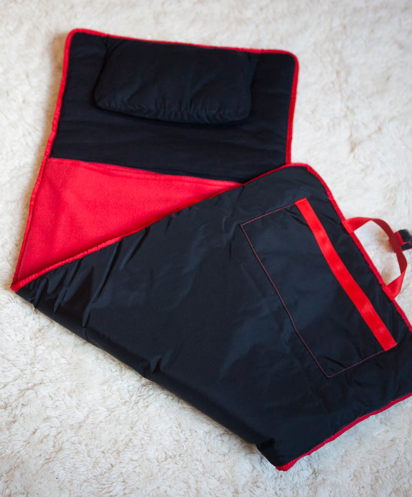 Black with Red Nap Mat - inthisveryroom