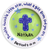 Cross Baptism Plates - Boys & Girls