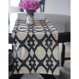 Personalized Jute Table Runner - Black Design