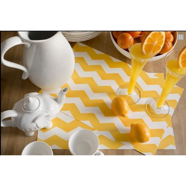 *ALMOST GONE* L'Orange (Yellow) Chevron Disposable Placemats