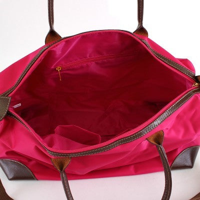 Pink Nylon Duffel Bag