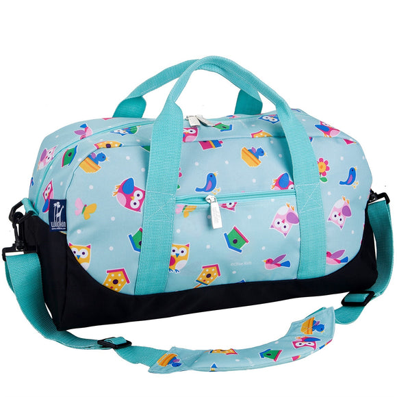 Monogrammed Owl Birds Duffel Bag for Girls