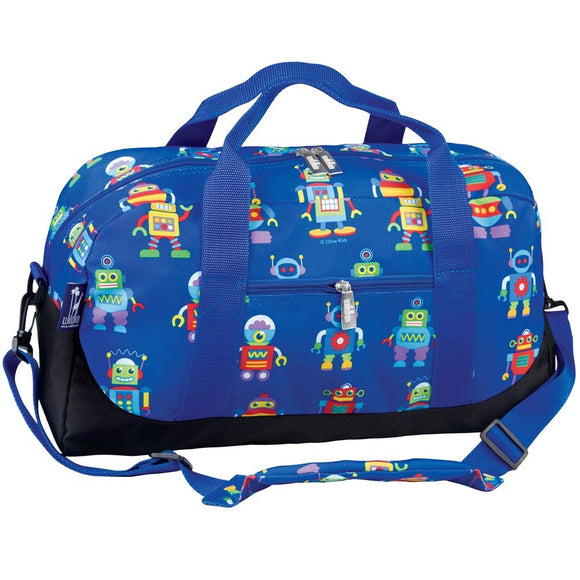 Monogrammed Robots Dufeel Bag for Boys