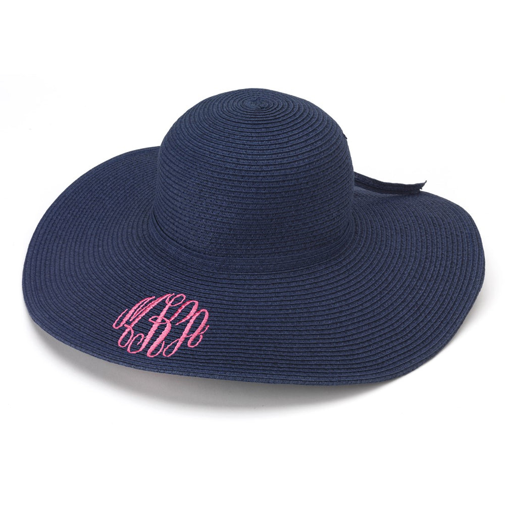 Monogrammed Hat - Navy Blue