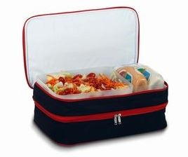 *SOLD OUT* Black with Red Trim - Casserole & Food Carrier - inthisveryroom