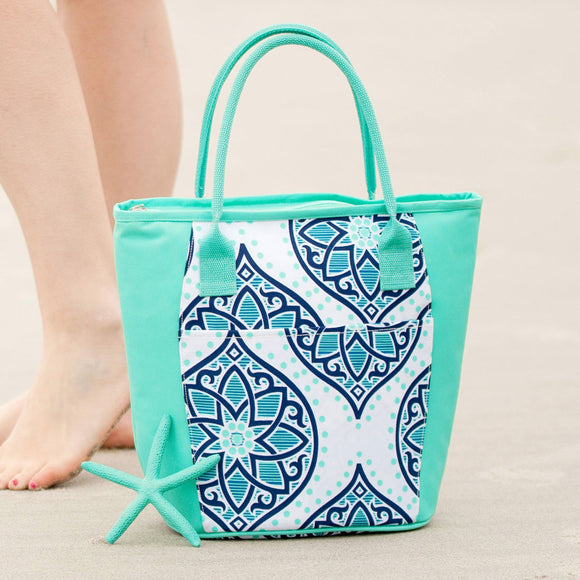 Personalized Cooler Tote Bag - Boho Style