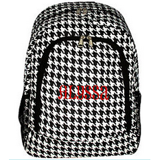 Houndstooth School Backpack