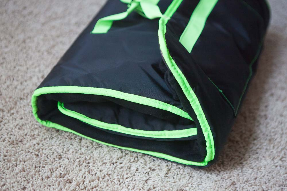 Black with Lime Green Nap Mat - inthisveryroom