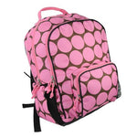 Pink & Brown Dots School Backpack