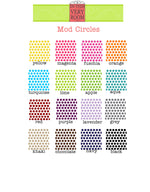 Mod Circles Cutting Board - Many Colors!