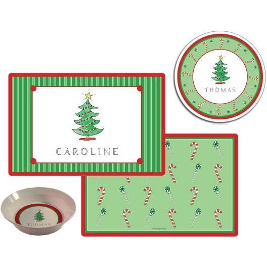 Christmas Tree Kids Dish Set